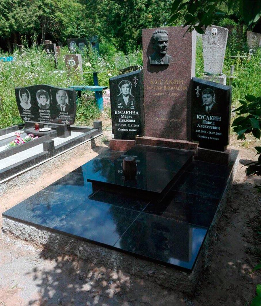 облицовка памятника гранитной плиткой