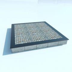 Бессерный фундамент + гранитная брусчатка