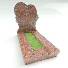 Памятник в форме сердца (розовый)