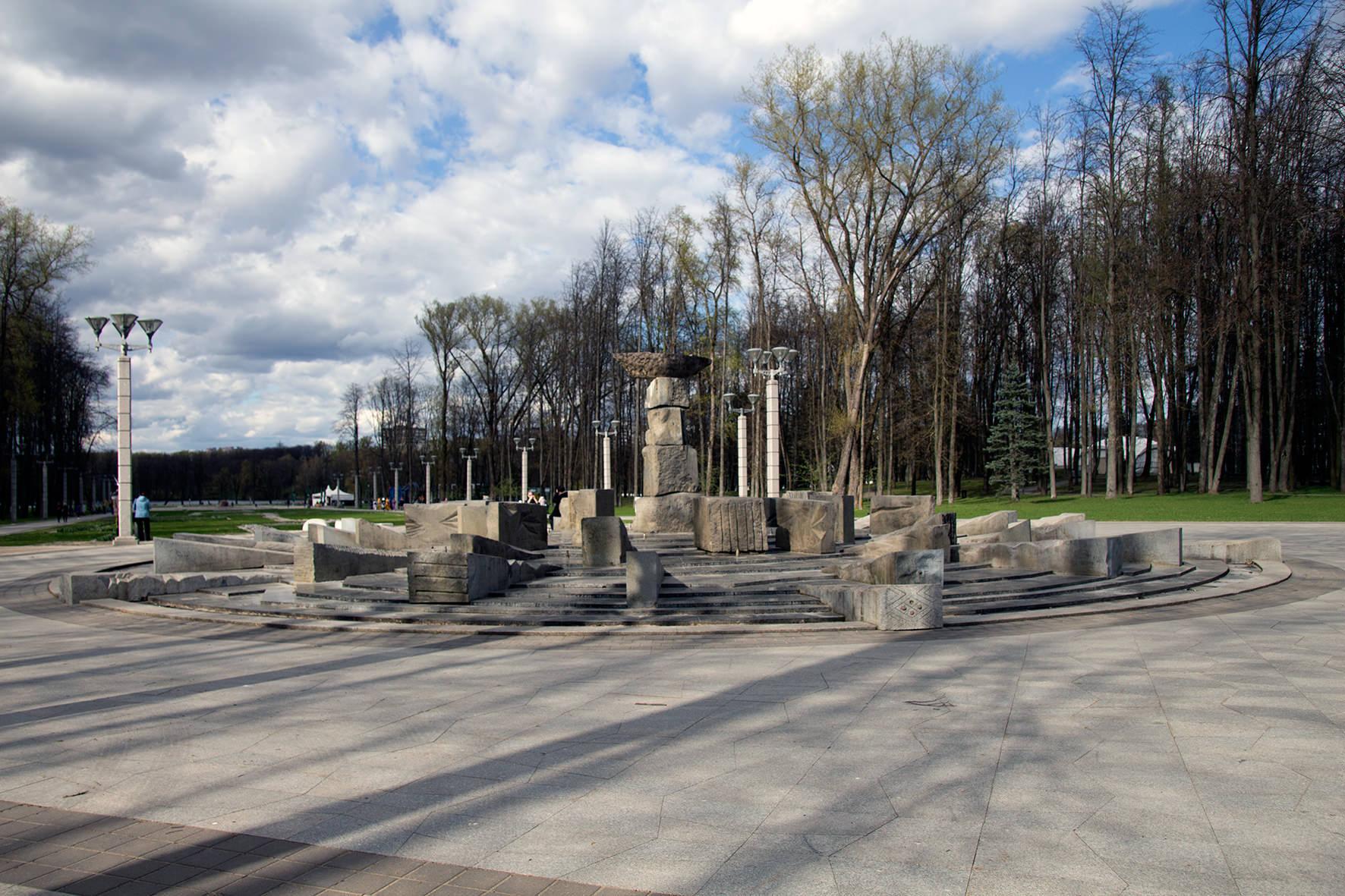 Фонтан в парке Победы в Минске