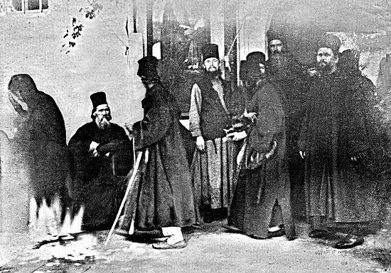 Чудо явления Божией Матери во время раздачи милостыни в русском монастыре