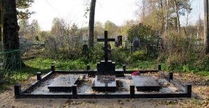 Крест на могилу тройной